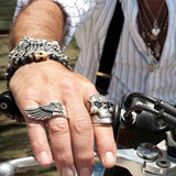 WING Mens Ring in Sterling Silver by King Baby