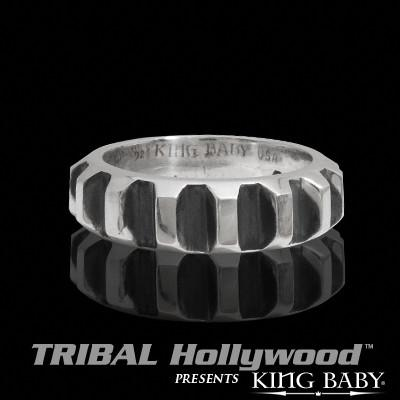 GEAR RING Sterling Silver Mens Ring by King Baby Studio