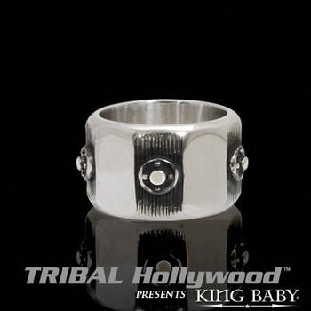 VALVE RING Sterling Silver Industrial Mens Ring by King Baby Studio