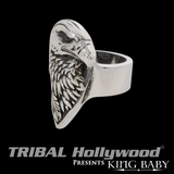 THE EAGLE RING Large Sterling Silver Mens Ring by King Baby