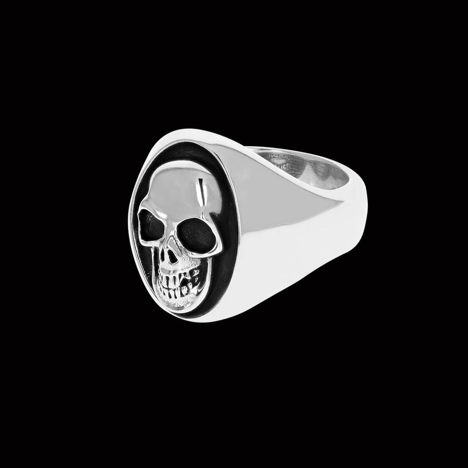 LARGE MANIAC SKULL RING for Men in Sterling Silver by King Baby