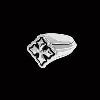 CLASSIC MB CROSS RING for Men in Sterling Silver by King Baby