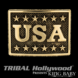 THE USA BUCKLE Gold Alloy Belt Buckle for Men by King Baby