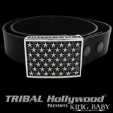 FREEDOM STARS BUCKLE King Baby Mens Silver Belt Buckle