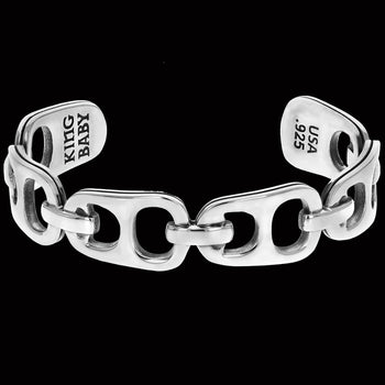 King Baby POP TOP CUFF Sterling Silver Beer Tab Mens Bracelet