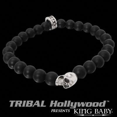 SKULL BEAD Black Onyx Bracelet by King Baby Studio