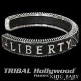 LIBERTY SUN CUFF Bracelet for Men in Sterling Silver by King Baby