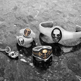 MANIAC SKULL CUFF Bracelet for Men in Sterling Silver by King Baby