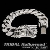 PONTIAC CHIEF Sterling Silver Curb Link Bracelet by King Baby