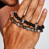 MB CROSS LAVA BEAD Bracelet for Men from King Baby Studio