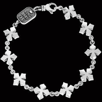 MB CROSS LINK BRACELET for Men in Sterling Silver by King Baby