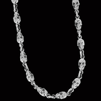 MANIAC SKULL CHAIN for Men in Sterling Silver by King Baby