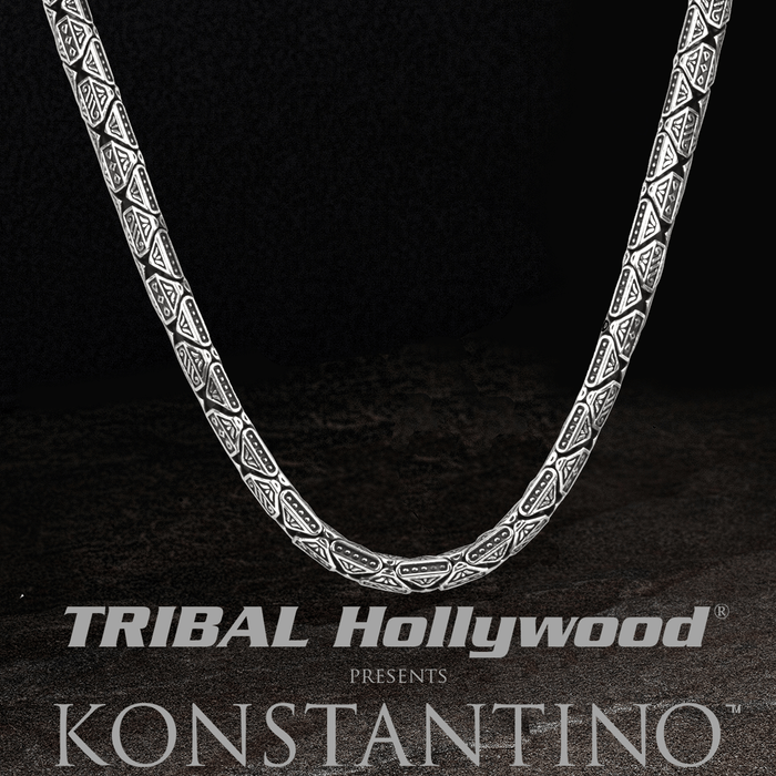 tribal cool sterling pendant guy bracelets jewelry s for chain konstantino men hollywood silver rings necklaces necklace greek