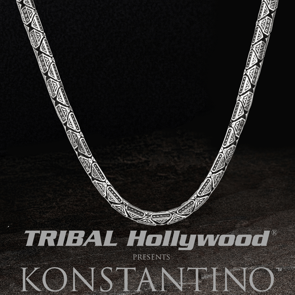 Konstantino GREEK CHAIN Sterling Silver Chain for Men