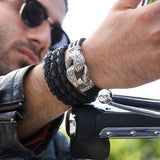 Black Braided CACTUS LEATHER Bracelet with Sterling Silver Clasp by Scott Kay
