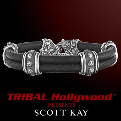 BOLTED RIVET Double Cord Bracelet by Scott Kay Sterling Silver