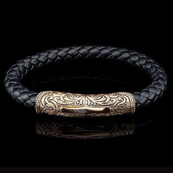 William Henry MILAN BRONZE Braided Leather Bracelet for Men