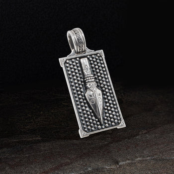 Konstantino SPEARPOINT DOG TAG for Men in Sterling Silver