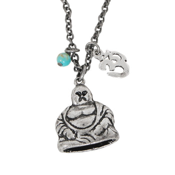 THE PHILOSOPHY Mens Necklace with Buddha and Om Symbol