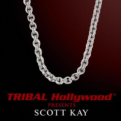 SIGNATURE 2.5mm Scott Kay Mens Sterling Silver Chain Necklace