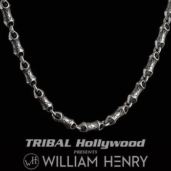 William Henry ARDENT Sterling Silver Hammered Link Necklace Chain for Men