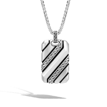 Classic Chain Dog Tag Pendant Necklace by John Hardy
