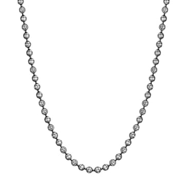 Black Rhodium Sterling Silver Ball Chain by John Hardy
