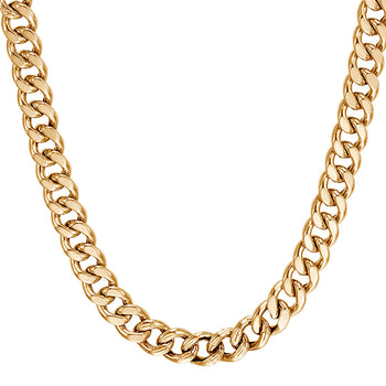 John Hardy Mens 18k Gold Curb Link 6.5mm Classic Chain Necklace