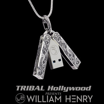William Henry TELLARO USB Drive Necklace with Butterfly Closure