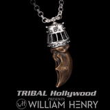 William Henry KINGS CLAW NECKLACE Bronze and Silver Polar Bear Claw