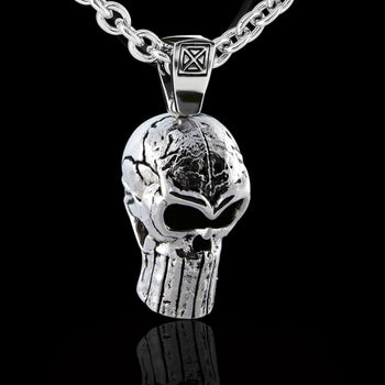 WHISTLER Skull Pendant Chain for Men in Sterling Silver by Ecks