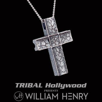 William Henry UNUM CROSS Sterling Silver Necklace for Men