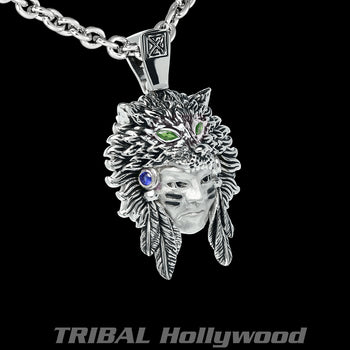 THE HUNTER NECKLACE Native American Warrior Mens Chain from Ecks