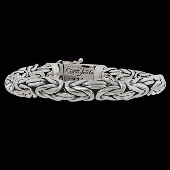 BYZANTINE DRAGON WEAVE Thick Width Silver Mens Bracelet by Keith Jack