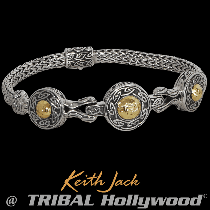 SOLSTICE BRACELET Gold and Silver Celtic Bracelet from Keith Jack