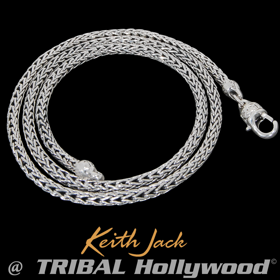 UNBROKEN FAITH Celtic Knots Silver Mens Chain by Keith Jack