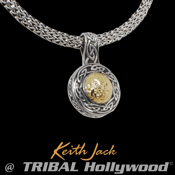 Mens necklaces tribal hollywood solstice chain gold and silver celtic pendant chain by keith jack aloadofball Image collections