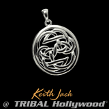 PATH OF LIFE KNOT Sterling Silver Chain Pendant by Keith Jack