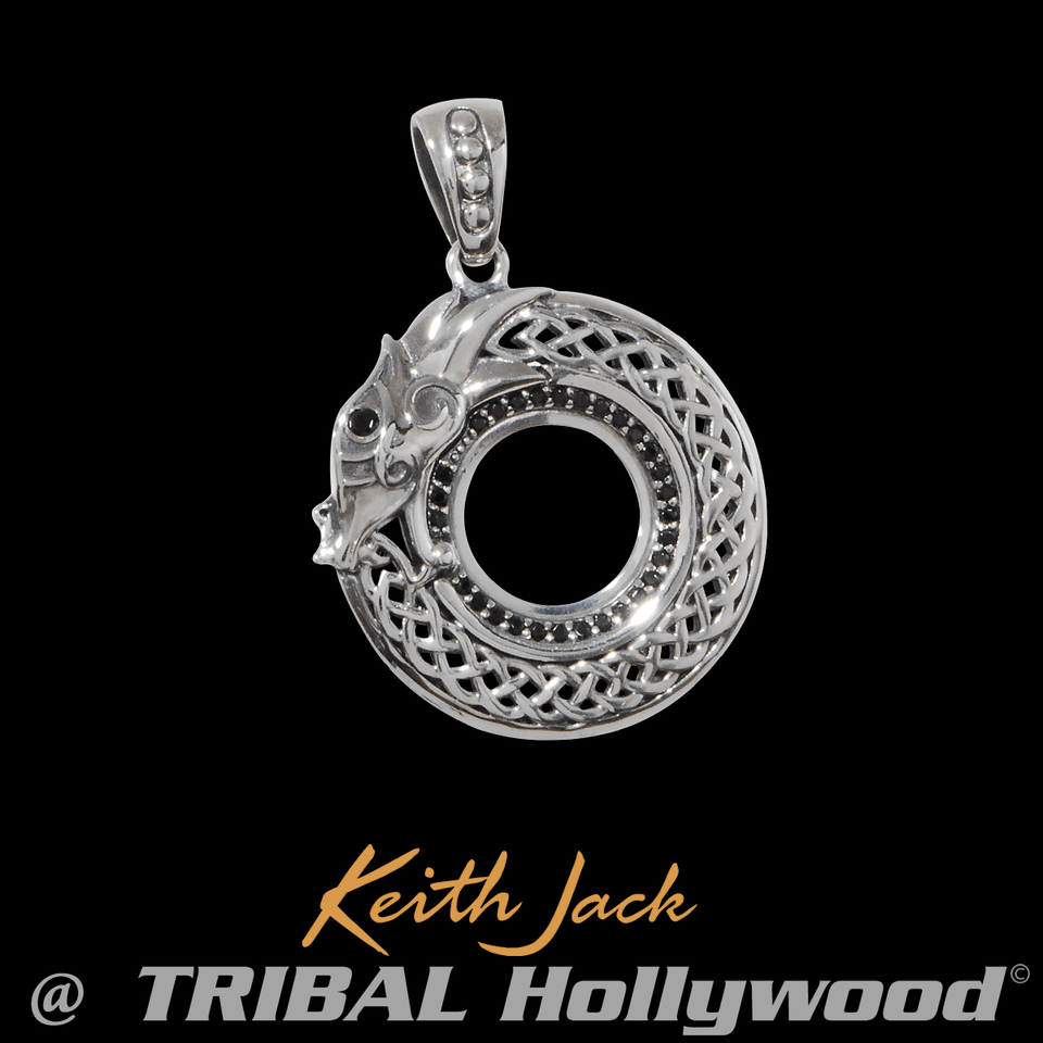 ETERNAL DRAGON Sterling Silver Chain Pendant for Men by Keith Jack