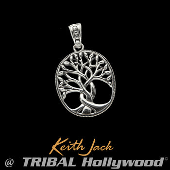 TREE OF LIFE TALISMAN Sterling Silver Mens Chain Pendant by Keith Jack