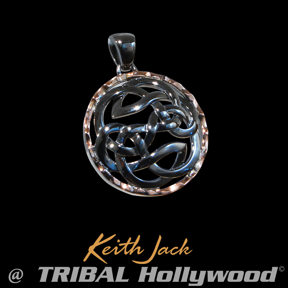 PATH OF LIFE MEDALLION Celtic Knot Keith Jack Mens Chain Pendant
