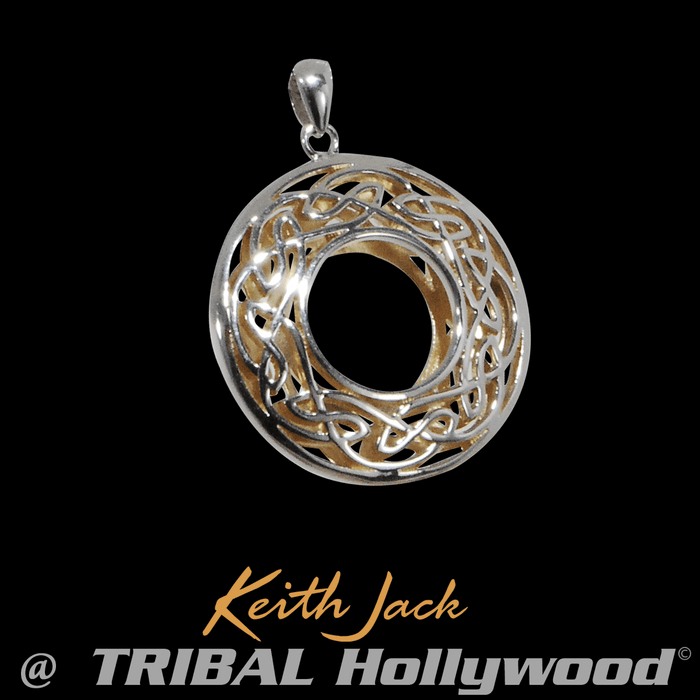 3cc05fca24929 WINDOW TO THE SOUL Silver and Gold Celtic Knot Pendant by Keith Jack