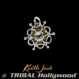 COSMIC MEDALLION Sterling Silver Starburst Chain Pendant by Keith Jack