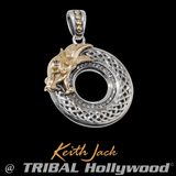 ETERNAL DRAGON Chain Pendant for Men in Gold and Silver by Keith Jack