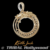 GOLDEN DRAGON Keith Jack Chain Pendant for Men in 10k Gold