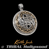 CELTIC YIN YANG Chain Pendant for Men in Gold and Silver by Keith Jack