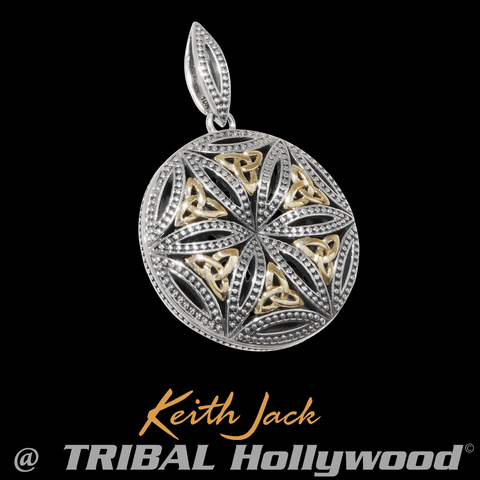 SEED OF LIFE Gold and Silver Chain Pendant for Men by Keith Jack