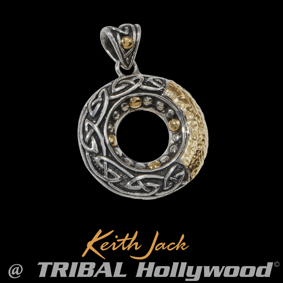 LABYRINTH Gold and Silver Keith Jack Chain Pendant Medallion for Men