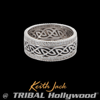 GREY WINDOW TO THE SOUL Celtic Knot Mens Ring by Keith Jack