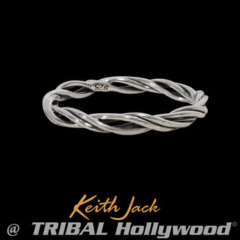 CROWN OF BRANCHES Silver Thin Width Ring for Men by Keith Jack